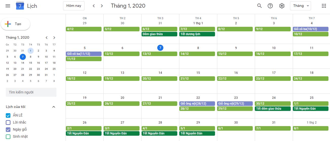 Cách theo dõi ngày giỗ trong năm trên Android, iPhone và iPad