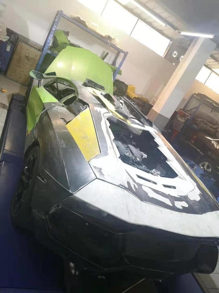 Lamborghini Aventador 27 tỷ bị cháy rụi của đại gia Hà Nội hồi sinh