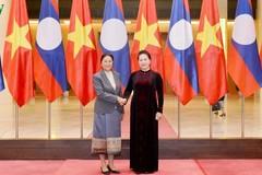 Chủ tịch Quốc hội tiếp Chủ tịch Quốc hội Lào Pany Yathotou