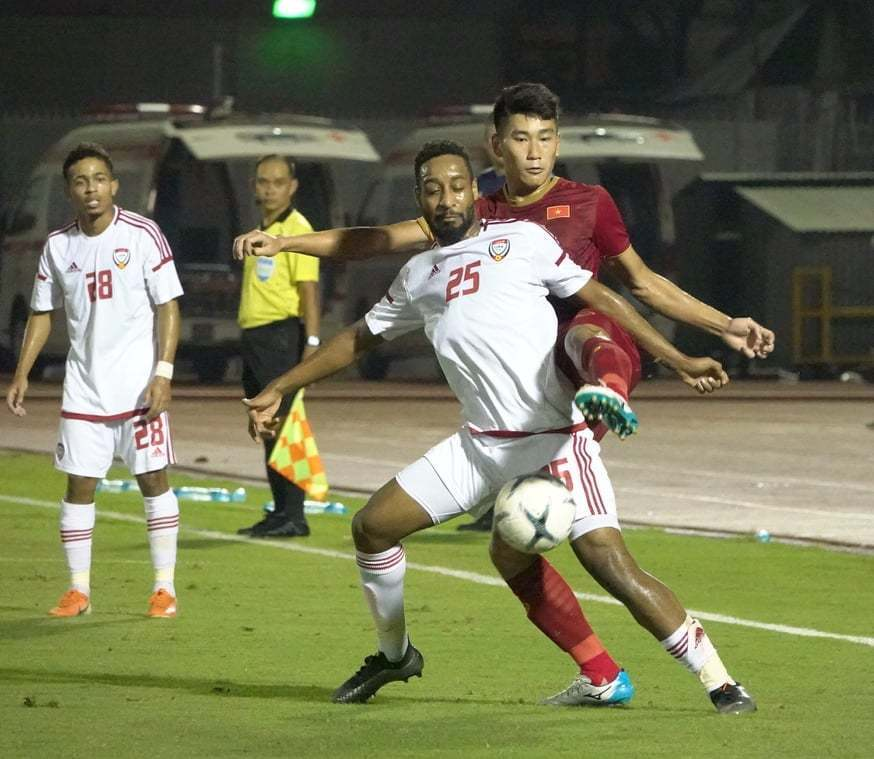 U23 Việt Nam,U23 Việt Nam vs U23 UAE