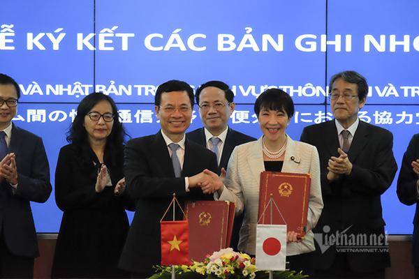 Việt Nam sẽ hợp tác với Nhật về Bưu chính và Thông tin Truyền thông