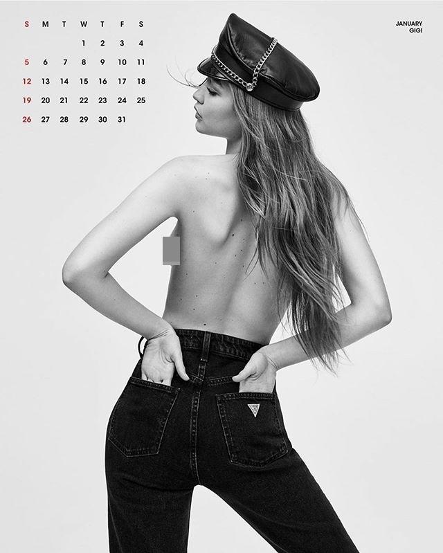 Gigi Hadid và em gái bán nude chụp ảnh lịch tạp chí