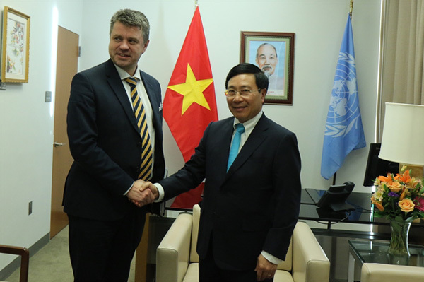 Deputy PM meets officials from countries at UNSC open debate