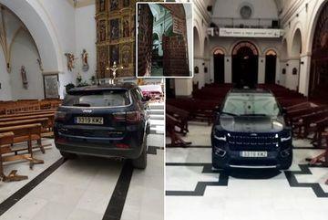 """Nghĩ mình bị """"quỷ nhập"""", người đàn ông lái xe đâm thẳng vào nhà thờ"""