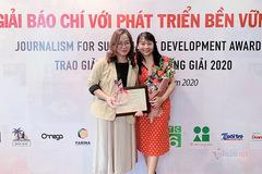 VietNamNet đạt giải A 'Giải Báo chí với Phát triển bền vững 2019'
