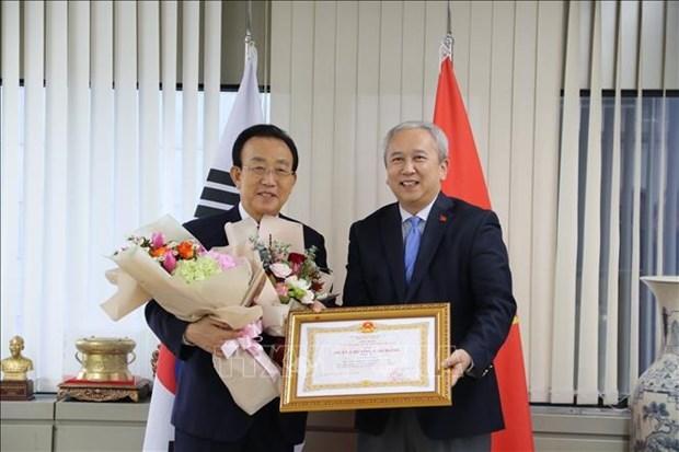 former governor of Gyeongsangbuk province Kim Kwan,third-class Labour Order of Vietnam,2017 Ho Chi Minh City-Gyeongju World Culture Festi,cultural exchanges