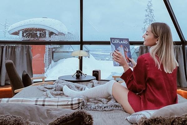 Khách sạn nhà kính giữa trời tuyết trắng ở Phần Lan