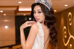 Người đẹp Khánh Vân gợi cảm trong mẫu đầm đính đá
