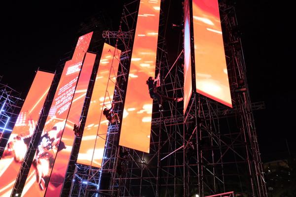 Sân khấu 'khủng' trong đại nhạc hội F1 đầu tiên ở VN