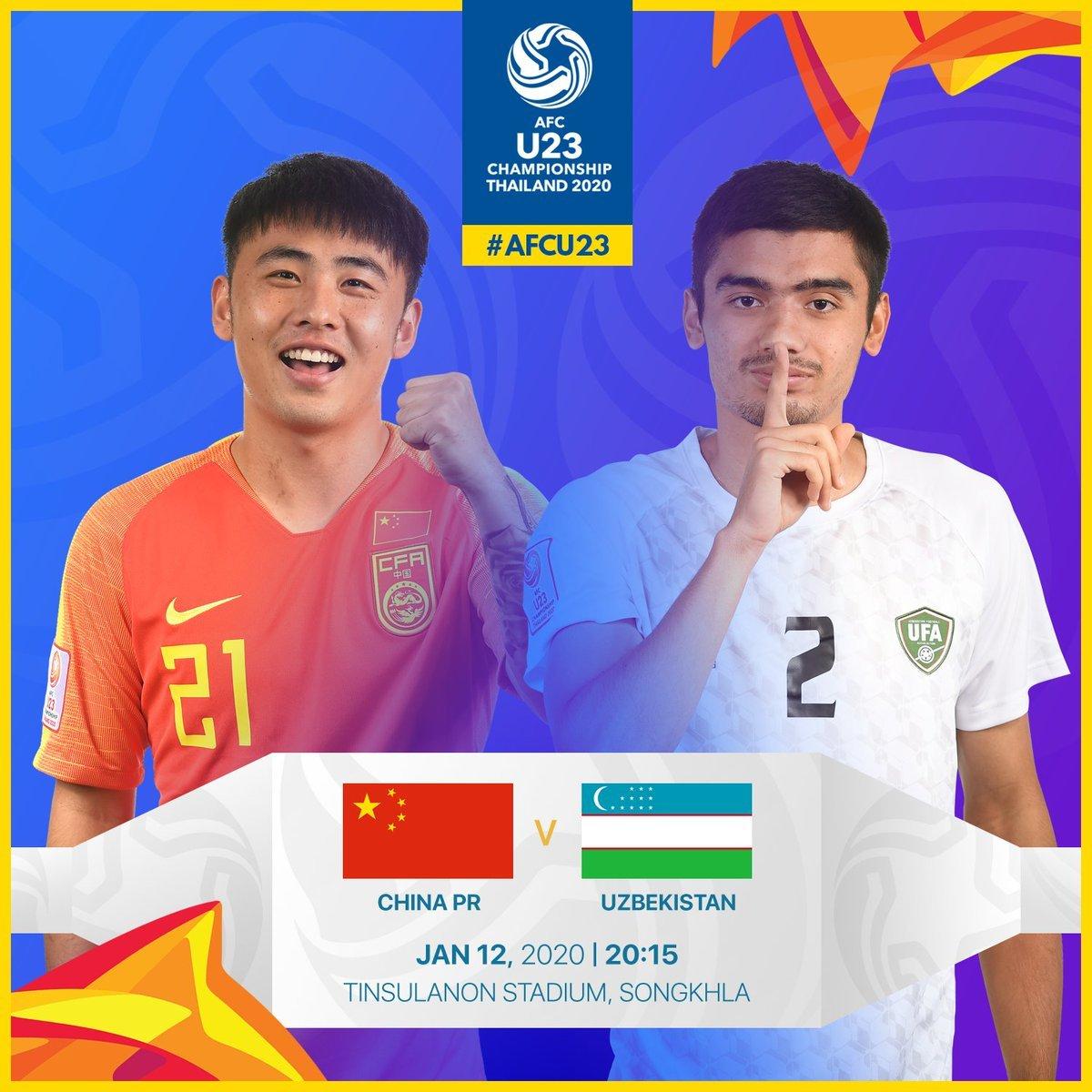 Link xem trực tiếp U23 Trung Quốc vs U23 Uzbekistan, 20h15 ngày 12/1