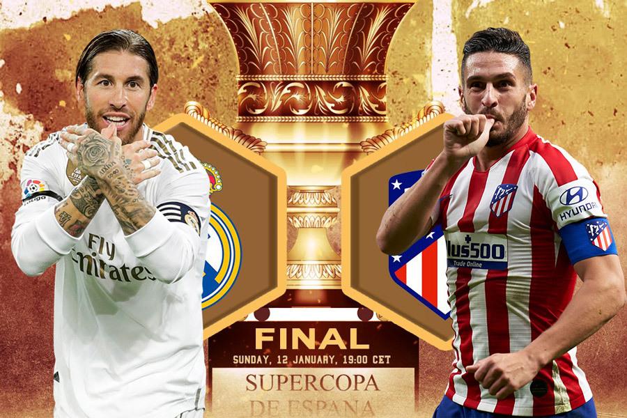 Trực tiếp Real Madrid vs Atletico: Danh hiệu đầu năm