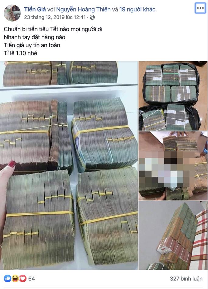 Ngang nhiên rao bán tiền giả trên mạng xã hội những ngày cận Tết