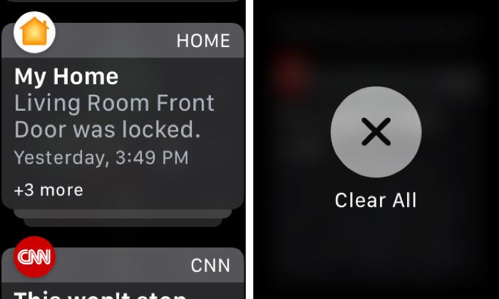 Cách xóa tất cả thông báo trên Apple Watch cùng lúc