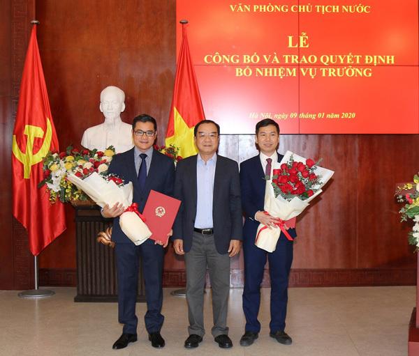 Văn phòng Chủ tịch nước công bố và trao Quyết định bổ nhiệm Vụ trưởng