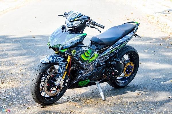 Yamaha Exciter độ dàn chân phân khối lớn tốn hơn 200 triệu đồng