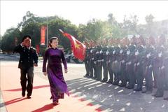 Chủ tịch Quốc hội thăm và chúc Tết Bộ Chỉ huy quân sự tỉnh Đắk Lắk