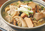 Dried bamboo shoot soup for Tet