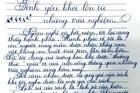 Những bài thi chữ đẹp của học sinh Sài Gòn