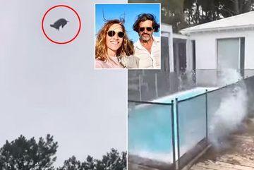 Trò bệnh hoạn, thả lợn chết từ trực thăng xuống bể bơi nhà tỷ phú