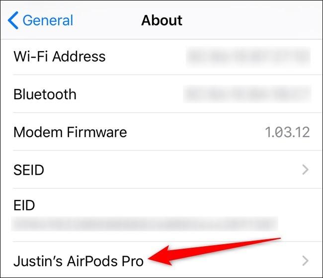 Cách kiểm tra phiên bản phần mềm của AirPods và AirPods Pro