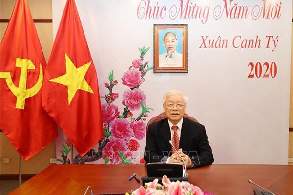 Tổng bí thư, Chủ tịch nước điện đàm với ông Tập Cận Bình