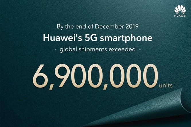 Vượt Samsung, Huawei dẫn đầu thị trường smartphone 5G năm 2019