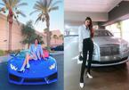Ở Mỹ, Hoa hậu Phạm Hương liên tục khoe siêu xe hàng khủng