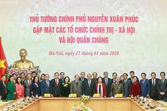 Thủ tướng gặp mặt các tổ chức chính trị-xã hội và hội quần chúng