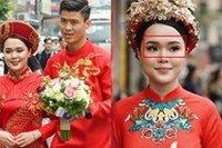 Sau gương mặt 'sai sai' trong lễ ăn hỏi, vợ Đỗ Duy Mạnh nói gì khi bị cho là có thù với make-up?