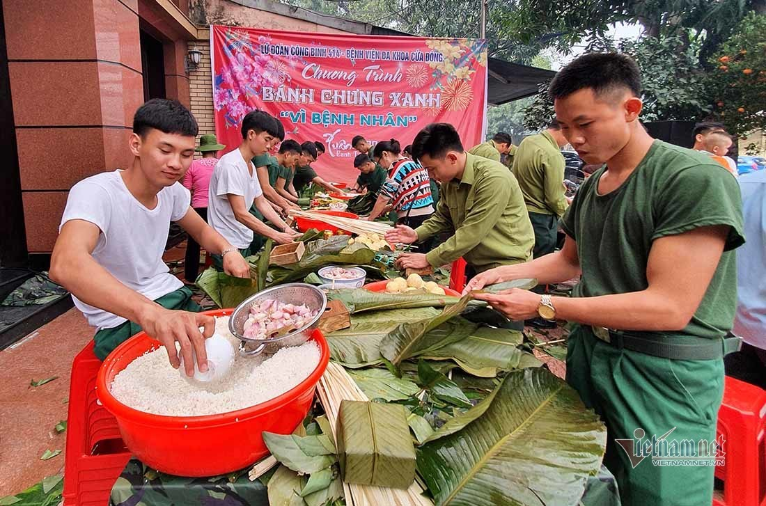 4.000 chiếc bánh chưng tặng bệnh nhân ở Nghệ An