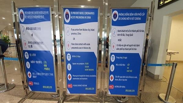 Sân bay Nội Bài tăng cường công tác kiểm dịch phòng viêm phổi cấp