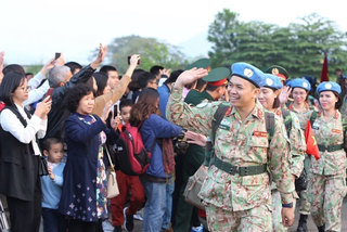 Video chat held for VN peacekeepers in South Sudan