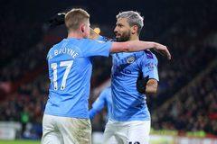 Aguero lập công, Man City thắng nhọc Sheffield