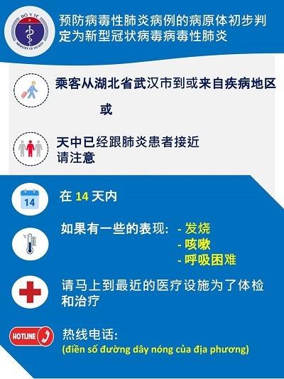 Bộ Y tế phát tờ rơi ở các cửa khẩu phòng, chống dịch viêm phổi cấp