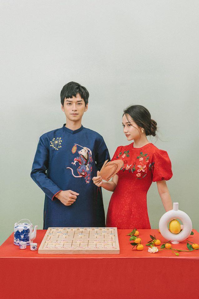 Ngạn và Hà Lan 'Mắt biếc' chụp ảnh Tết tình tứ 'như ảnh cưới'
