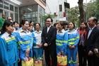Bí thư Hà Nội Hoàng Trung Hải thăm các đơn vị trực xuyên Tết