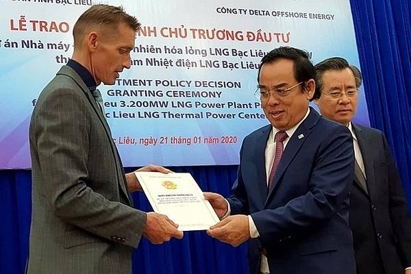 Bac Lieu LNG-to-power project triples January FDI inflow