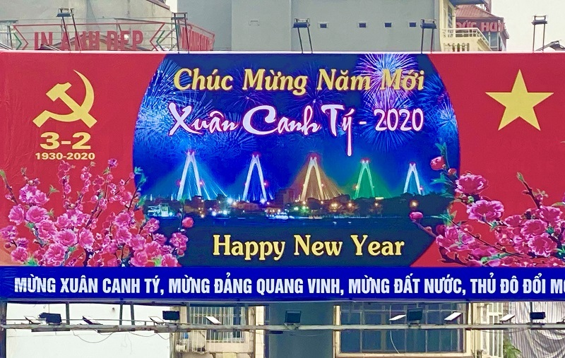 Hanoi streets decorated for Lunar New Year festival 2020