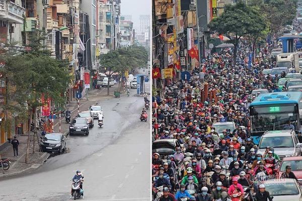 Kỳ diệu Hà Nội sáng mùng 1 Tết, đường phố bỗng thênh thang