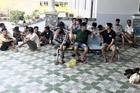 Cảnh sát 113 lội xuống mương nước để phá trường gà ở Cà Mau