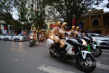 CSGT Hà Nội ra quân đảm bảo trật tự an toàn giao thông 2020