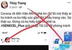 Bác thông tin ở Nghệ An có người nhiễm virus Corona
