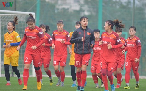 Women footballers ready to depart for Tokyo 2020 Olympic qualifiers in RoK