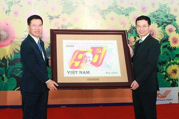 Phát hành bộ tem kỷ niệm 90 năm thành lập Đảng Cộng sản Việt Nam