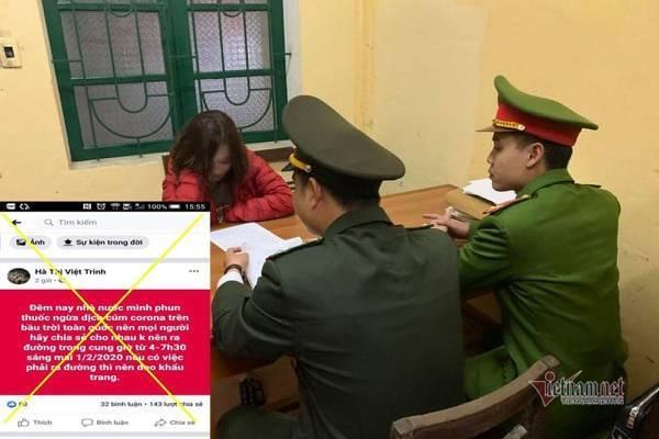 Triệu tập cô gái Thanh Hóa tung tin phun thuốc ngừa virus corona lên trời