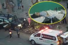 Thông tin mới vụ ô tô tông chết tài xế GrabBike, nữ tiếp viên hàng không trọng thương