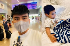 Vợ Đan Trường lo lắng vì con trai sốt liên tục 3 ngày