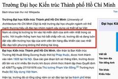 Trường không nghỉ học, sinh viên sửa Wikipedia