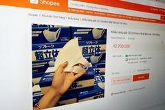 Khẩu trang 3D Nhật được bán với giá 2,7 triệu đồng trên Shopee