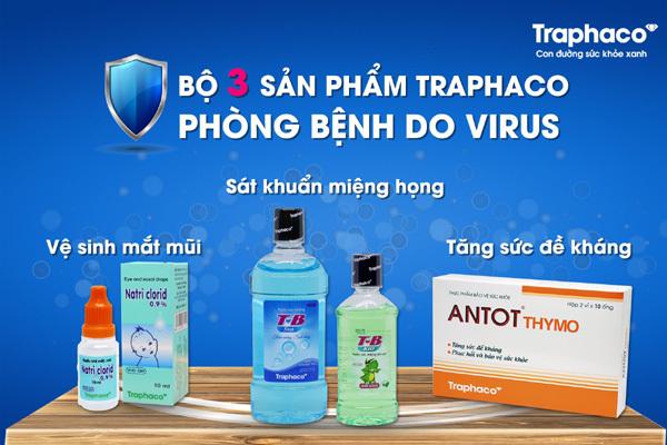 Bộ 3 sản phẩm Traphaco phòng dịch bệnh do virus Corona